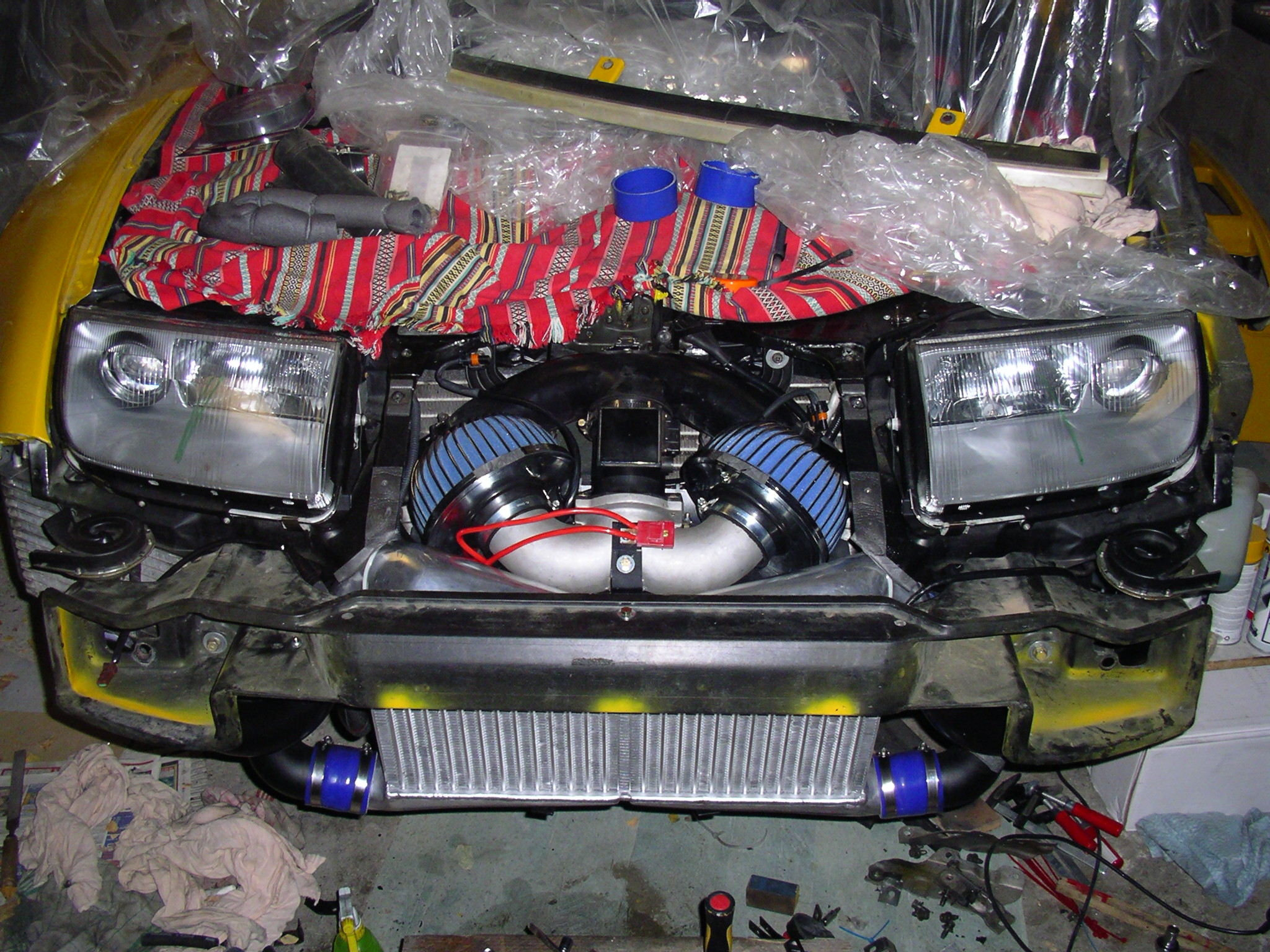 Fit nissan fairlady z32 300zx twin turbo front mount intercooler does not apply vanachro Images