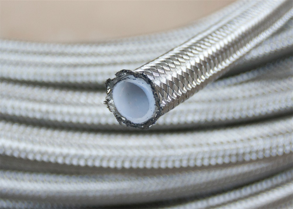 An stainless braided ptfe teflon fuel line oil gas