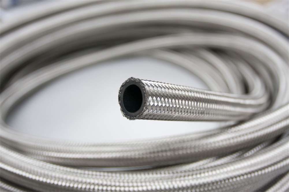 An 6 An6 An06 Stainless Steel Braided Fuel Line Oil Gas