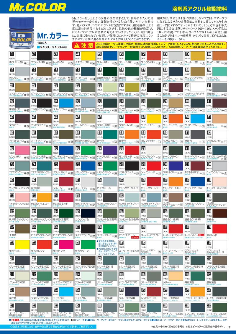 Import Mr Color Paints