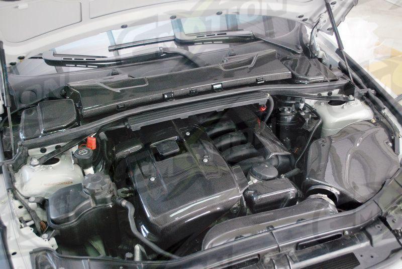 Fit Bmw N52 Carbon Fiber Engine Cover E60 E70 E83 E90 X3